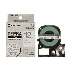 キングジム テープカートリッジ テプラPRO 12mm SS12H グレー文字