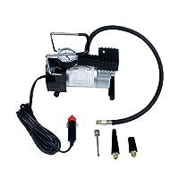 Baoblaze 電動ポンプ 12V 自動車 エアコンプレッサー 100PSI  インフレータ タイヤ 空気入れ ポータブル