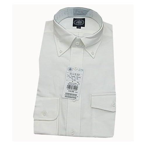 (ジェイプレス) J.PRESS ボタンダウンシャツ オフホワイト オックスフォード 衿39-袖丈82