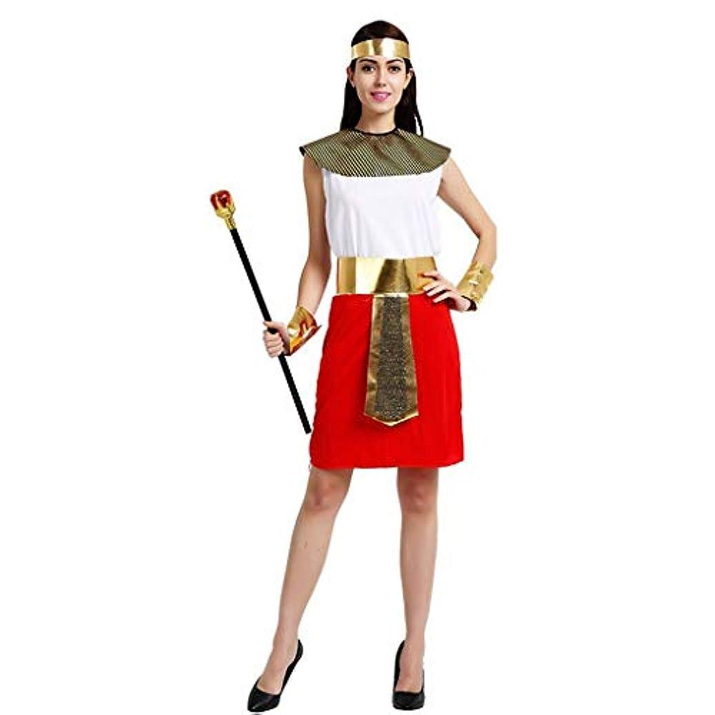 なぜなら国籍電子SHWSM 赤いドレスエジプトの女王の衣装、ハロウィーンのコスプレ衣装、仮装、首飾り、リストバンド、ベルト、衣装(160cm-175cm)を含む仮装衣装