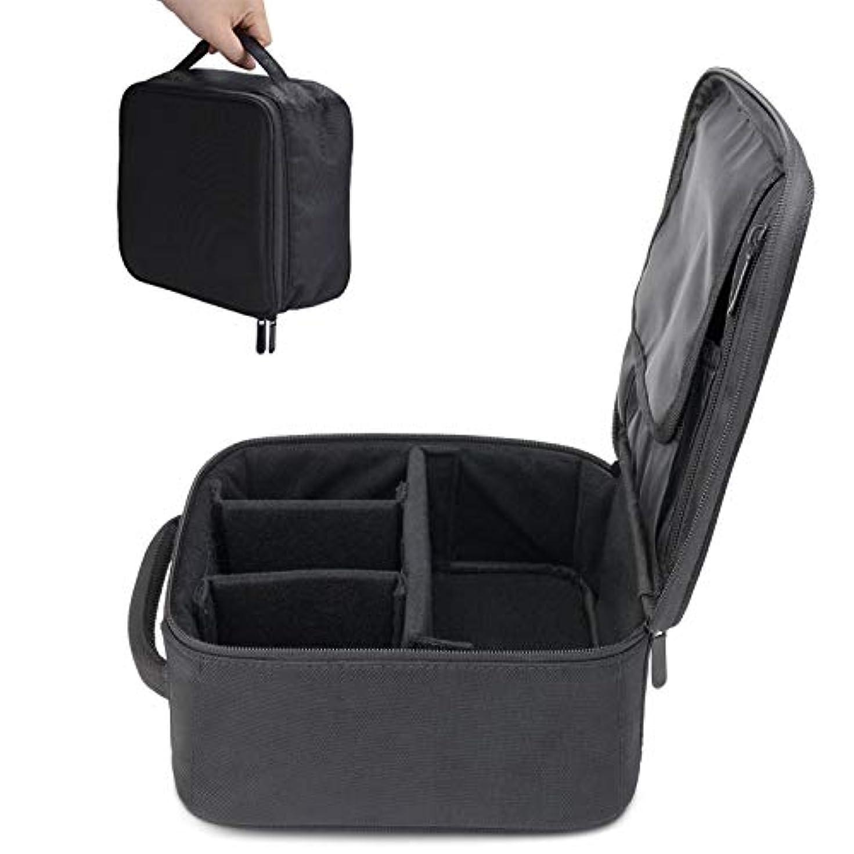 予定信頼性のある別のサントレード 化粧ポーチ 化粧バッグ メイクアップ収納バッグ オーガナイザー 小物入れ 大容量 ブラック 防水