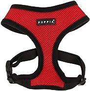 Puppia PDCF-AC30-RD-M Soft Mesh Dog Harness, Red Medium