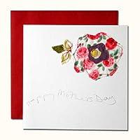 母の日カード サラの手作りアート・カード 01 大きな花