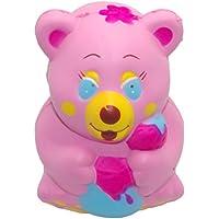 KawaiiジャンボSquishyピンクFairy Bear香りつきSlow Rising動物チャームキッズ用ガールズSqueeze Toyギフト11 cm