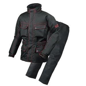 ラフアンドロード(ROUGH&ROAD) バイクジャケット エキスパートウインタースーツ ブラック/レッド LL RR6515