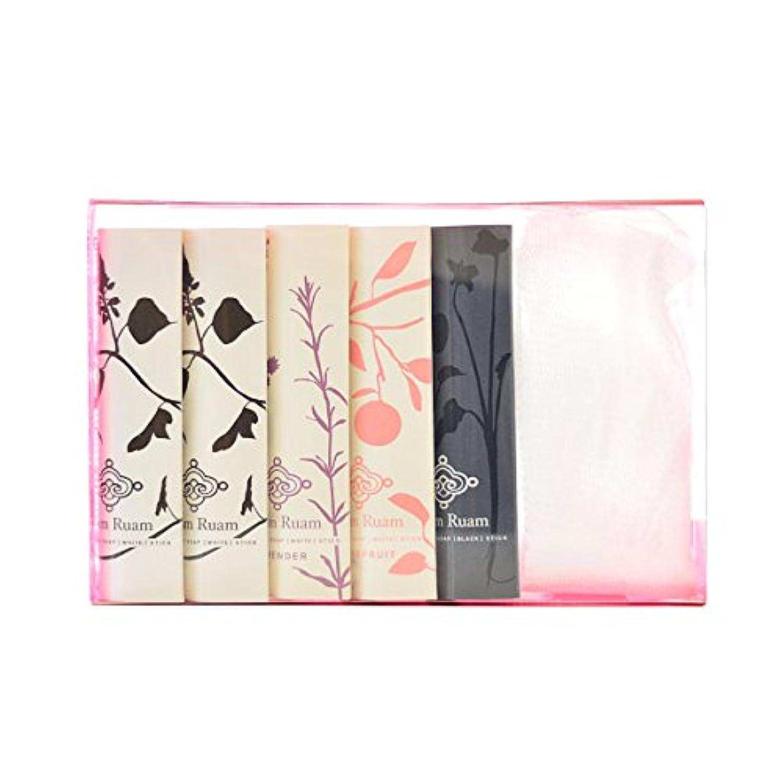 酸化する活性化するによるとRuam Ruam(ルアンルアン) 洗顔石鹸(白) セット 7g×5本