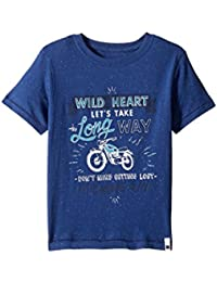 [ラッキーブランド] Lucky Brand Kids ボーイズ Long Way Tee w/ Short Sleeves (Little Kids/Big Kids) トップス [並行輸入品]
