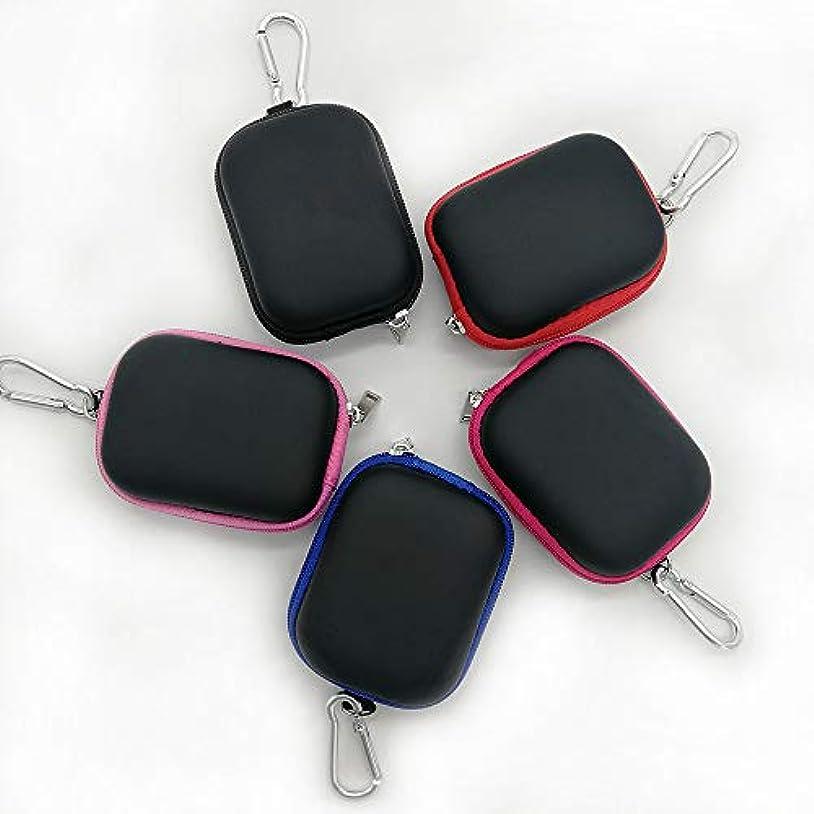 Decdeal ポータブルエッセンシャルオイルバッグ エッセンシャルオイルポーチ 精油ケース エッセンシャルオイル収納袋 6本用 3ML 携帯用 耐震 携帯便利