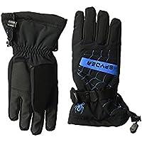 スパイダー Spyder Glove Black/French Blue Overweb Ski Gloves (Big Kids) [並行輸入品]