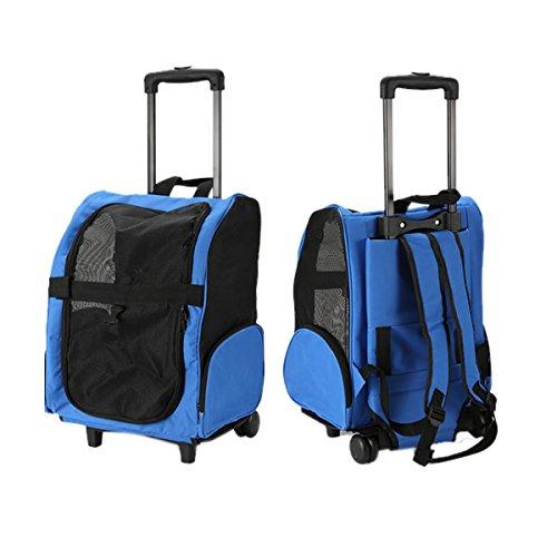 MIRAIS ペットバッグ キャスター付き キャリーケース ペット バッグ ペット専用バッグ 犬 ペット用品 (ブルー) MR-GB-PETCARY-BL