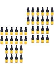D DOLITY ドロッパーボトル ガラス瓶 エッセンシャルオイル 精油 保存容器 詰め替え 小型 1ml /2ml 40個入