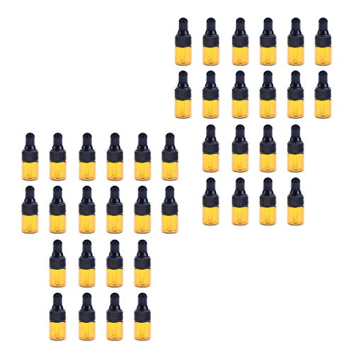当社喜劇正確にドロッパーボトル ガラス瓶 エッセンシャルオイル 精油 保存容器 詰め替え 小型 1ml /2ml 40個入