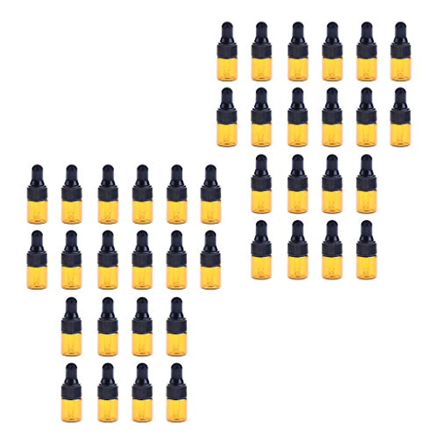バインドすべてつかの間ドロッパーボトル ガラス瓶 エッセンシャルオイル 精油 保存容器 詰め替え 小型 1ml /2ml 40個入