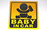【Cat fight】自動車用 夜間 反射 baby in car ベビー イン カ― 赤ちゃんが乗ってます マグネット ステッカー (I)