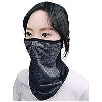 AthleX フェイスカバー ランニングマスク 息苦しくない UVカット 冷感 夏用 耳掛型 男女兼用 (グレー, 立体F)