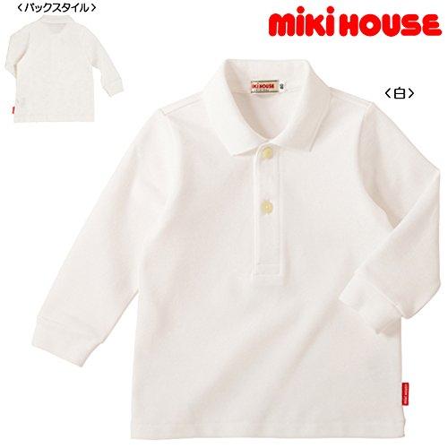 ミキハウス(MIKIHOUSE)EveryDaymikihouse長袖ポロシャツ100白(01)