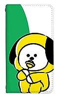 スマホケース 手帳型 ベルトなし mo-01j ケース 8367-D. CHIMMY mo-01j ケース 手帳 [MONO MO-01J] モノ エムオー BT21公式グッズ