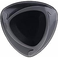 iPhone X 10/8 Plus用 QI M7 空飛ぶ円盤ワイヤレスチャージャー パッド ブラック+グレー