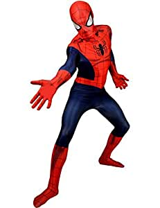 """Classic Superhero Morphsuit Costumes Spiderman Iron Man Deapool Captain America Wolverine All Sizes Small To XXL (Small 4ft6""""- 5ft (138cm - 150cm), Classic Spiderman Costume) by fancy dress warehouse [並行輸入品]"""
