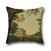 Throw Cushion Covers Of Oil Painting William Ashford - Mount Kennedy, County Wicklow, Ireland,for Son,birthday,boy Friend,couch,valentine,girls 16 X 16 Inches / 40 By 40 Cm(each Side)