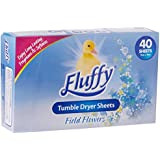 Fluffy Tumble Dryer Sheets Field Flowers Long lasting fragrance 40pk