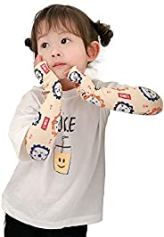 Arm Cover for Kids, Cooling Sensation, Arm Cover, Sunscreen, Sweat Absorbent, Quick Drying, Finger Holes, UV P