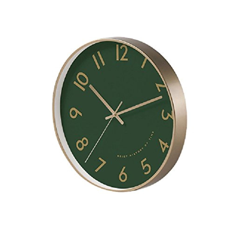ノルディックスタイルの壁時計モダンシンプルなリビングルームファッションクリエイティブレストランベッドルームクォーツ時計サイレントクロック10インチ/ 12インチ 掛け時計 UOMUN (色 : Green, サイズ さいず : 12インチ)