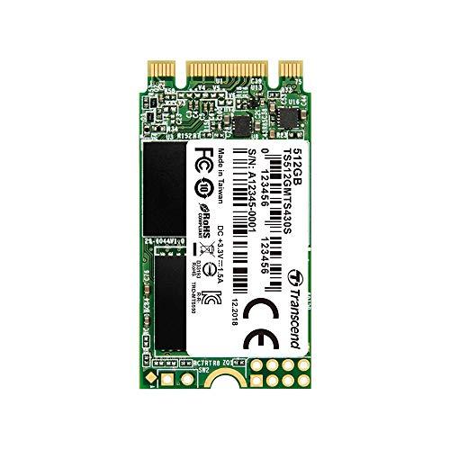 Transcend SSD M.2 2242 512GB SATA III 6Gb/s 3D TLC NAND DDR3 DRAMキャッシュ搭載 5年保証 TS512GMTS430S