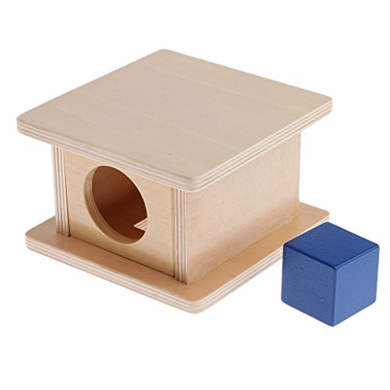 monkeyjackキッズ教育学習おもちゃモンテッソーリ木製MatchingスタンドボックスCuboid