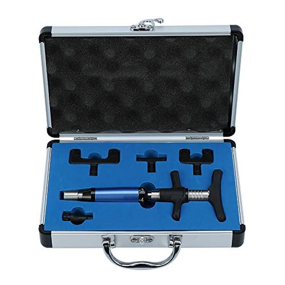 回転優越司書脊椎カイロプラクティック調整ツールインパルスアジャスター脊椎活性化剤、6レベルマニュアルフォースヘッド脊髄マッサージャー、ポータブルカイロプラクティック調整キット(2#)
