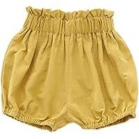 エルフ ベビー(Fairy Baby)ベビーかぼちゃパンツ ショートパンツ 無地 コットン 男の子 女の子 size 110 (イエロー)