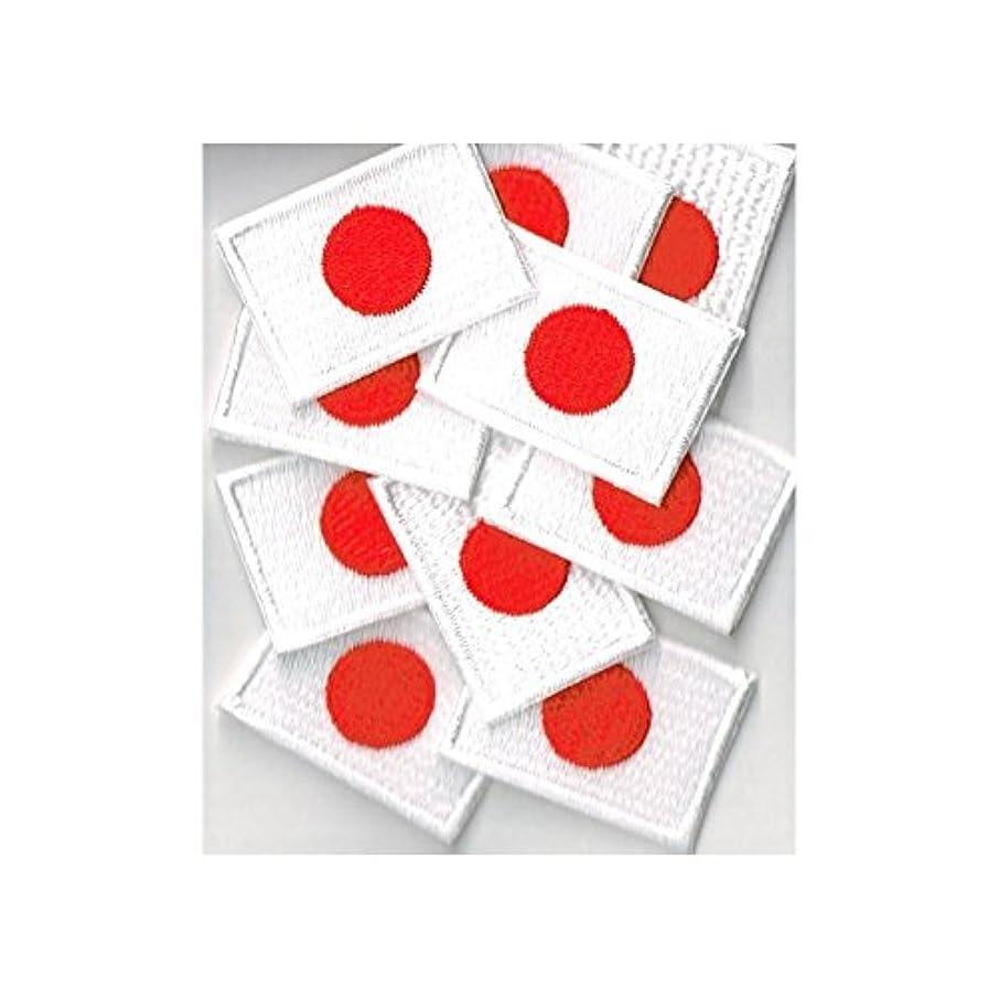 恋人毛細血管人柄日本国旗 ワッペン ミニ 日の丸sss1 0枚セット アイロン接着