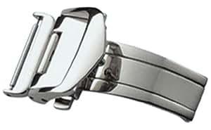 [バンビ]BAMBI 三つ折れプッシュバックル レザーバックル用 シルバー色 16mm ZS07N