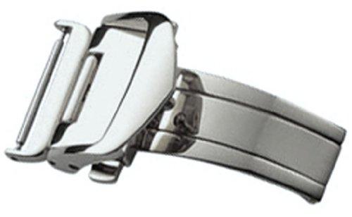 [バンビ]BAMBI 三つ折れプッシュバックル レザーバックル用 シルバー色 20mm ZS07S