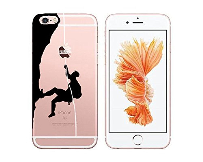 IPhone Xカバー透明クリエイティブ、iPhone 10 TPUケース、SevenPandaクリエイティブ超薄型透明シリコンカバーTpuゲルバンパープロテクターソフトクリスタル透明シリコン保護携帯電話ケースカバーiPhone 10 / iPhone X用 - クライミング