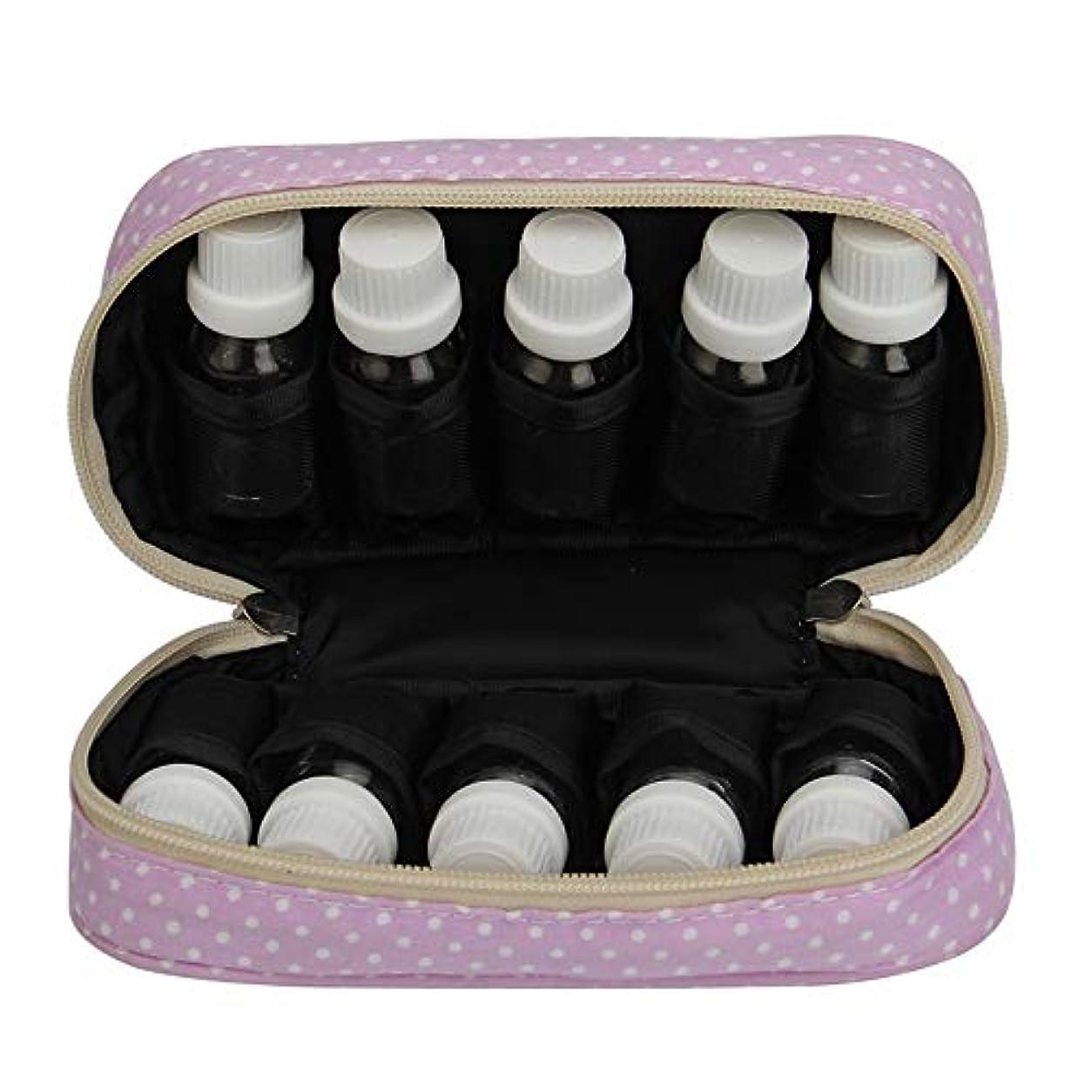 シャワー珍味お客様エッセンシャルオイル収納ボックス エッセンシャルオイルキャリングケースは、10本のボトル10-15MLトラベルオーガナイザーポーチバッグを開催します (色 : 紫の, サイズ : 18.5X11X5CM)