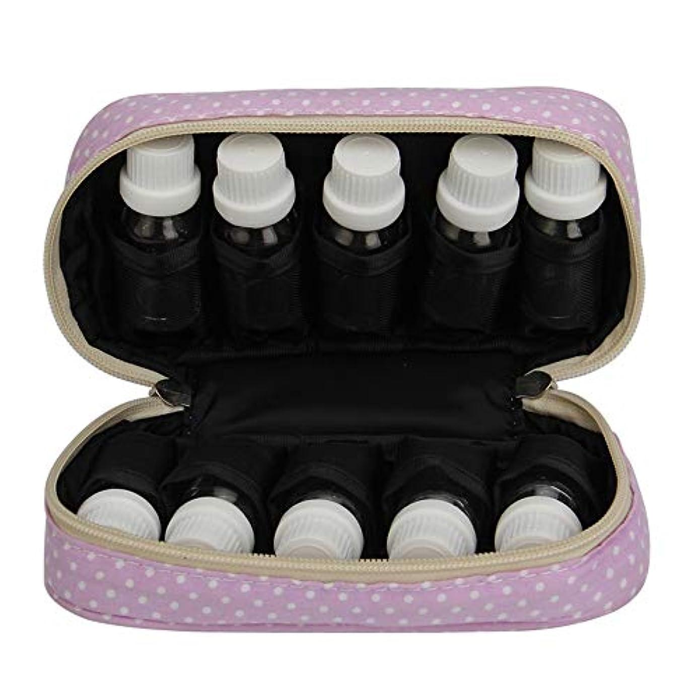 送信する高めるチャンバーエッセンシャルオイルストレージボックス エッセンシャルオイルキャリングケースは、10本のボトル10-15MLトラベルオーガナイザーポーチバッグパープルを開催します 旅行およびプレゼンテーション用 (色 : 紫の, サイズ...