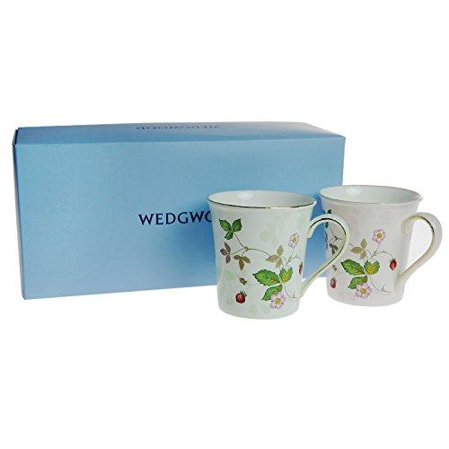 【ブランドBOX付き】ウェッジウッド(WEDGWOOD)ワイルドストロベリーパステルビーカー グリーン&ピンク カップルセット[並行輸入品]