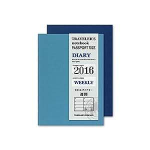 トラベラーズノート 手帳 リフィル 2016 1月始まり ウィークリー パスポートサイズ 14363006