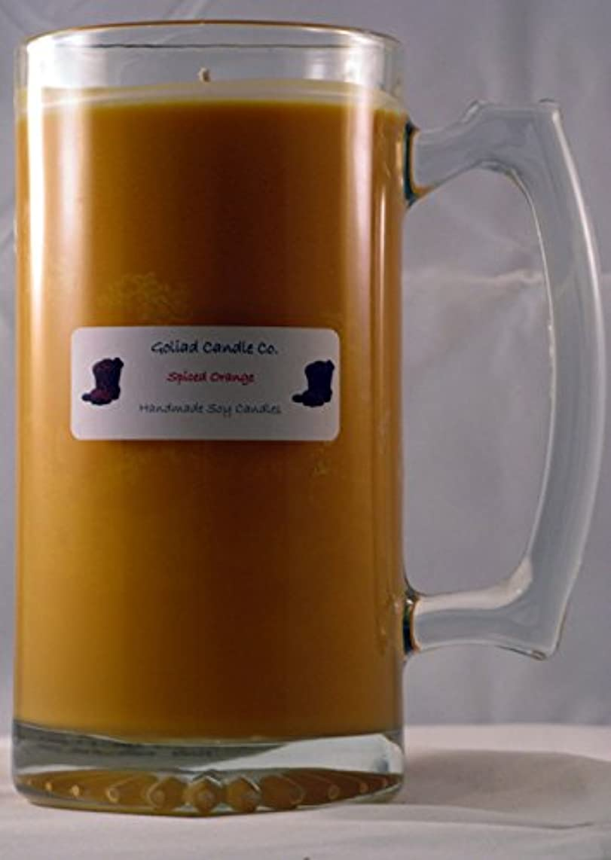 バックアップ食べる必要ないSpiced Orange 24oz Hand Poured Soy Candleマグ