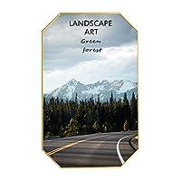壁画、現代ジクレー額入り林道壁画アートワークアートの装飾ポスターキャンバス絵画現代自然風景ホームオフィス(80cm),c,40cm