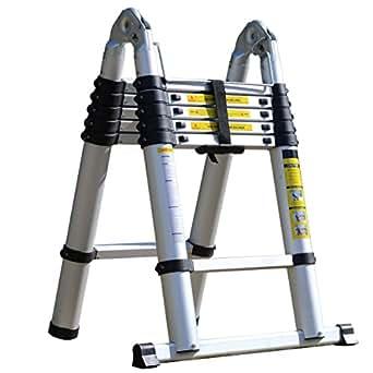 SEIKOH アルミ製はしご 折りたたみ式 最長3.8m 耐荷重150kg 安全ロック機能付 A19A