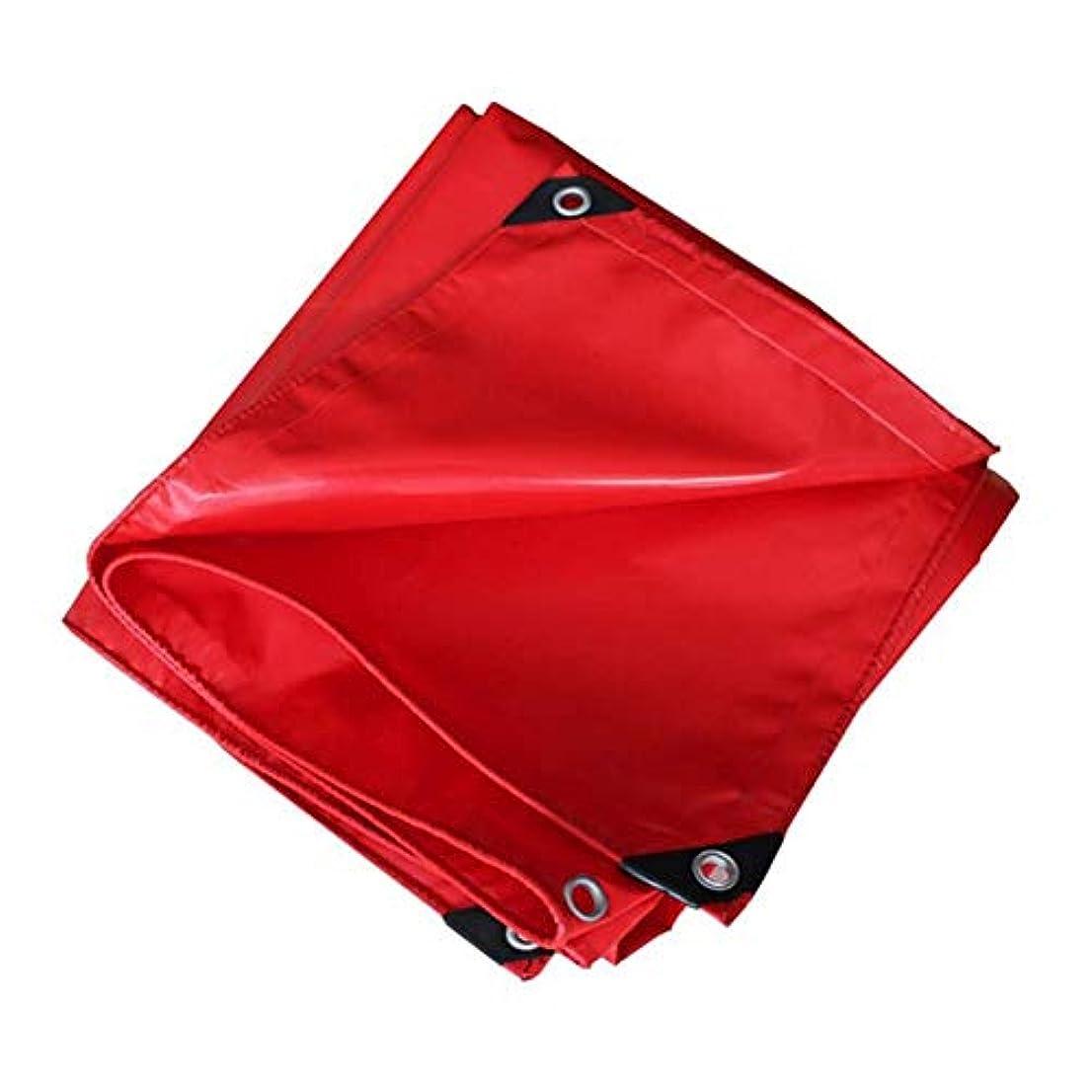 違反シーントレードZX タープ ターポリン - 厚く、ヘビーデューティ、防水耐摩耗性日焼け止め引裂抵抗タープ、500g / M 2 テント アウトドア (Color : Red, Size : 2x3m)