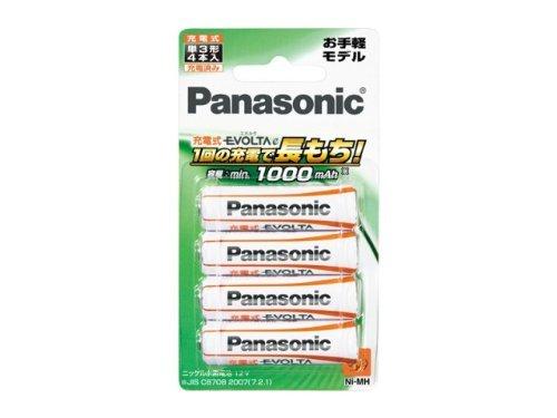充電式エボルタ 単3形 4本パック BK-3LLB/4B 00018316 パナソニック(Panasonic) パナソニック