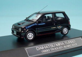 ハイストーリ 1/43 DAIHATSU ミラ ターボ TR-XX (1990年式) ブラック