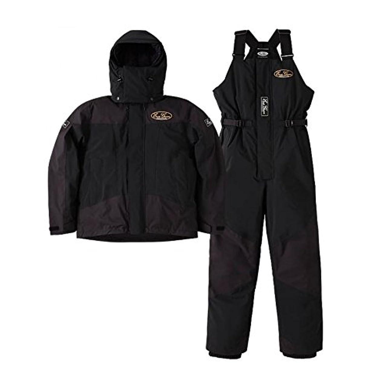 ブルゴーニュ先見の明バッフルエバーグリーン(EVERGREEN) EGホットスーツ EGHS-1 ブラック/ブラック ブラック/ブラック M