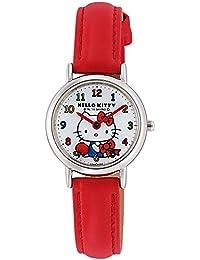 [シチズン キューアンドキュー]CITIZEN Q&Q 腕時計 ハローキティ アナログ表示 日常生活防水 ホワイト×レッド HK25-001 ガールズ