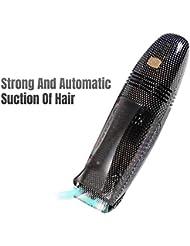キッズヘアクリッパー自動吸入毛髪機能防水静かなヘアクリッパー充電式プロフェッショナルヘアクリッパー