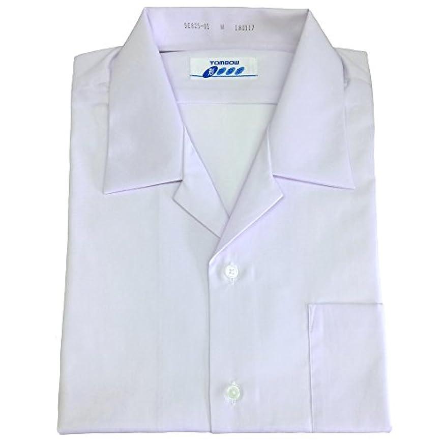 悪党チャットスローガントンボ(TOMBOW)スクールシャツ 男子 半袖 開襟 白 形態安定 抗菌防臭 A体 5E825-01【SS】
