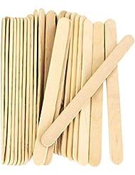 ACAMPTAR 200個、クラフトスティック、アイスクリームのスティック、木製アイスキャンデースティック、114MMの長さ スティック アイスポップスティック 棒